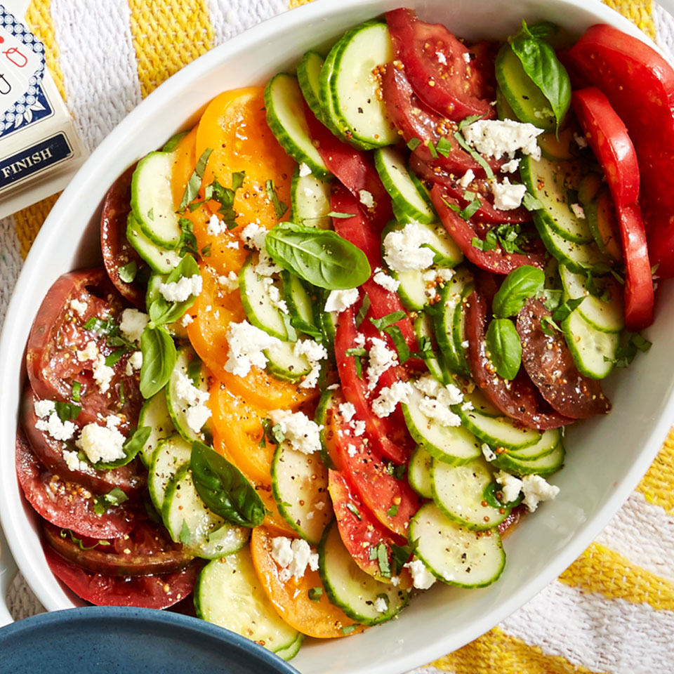 Tomato Salad with Lemon-Basil Vinaigrette