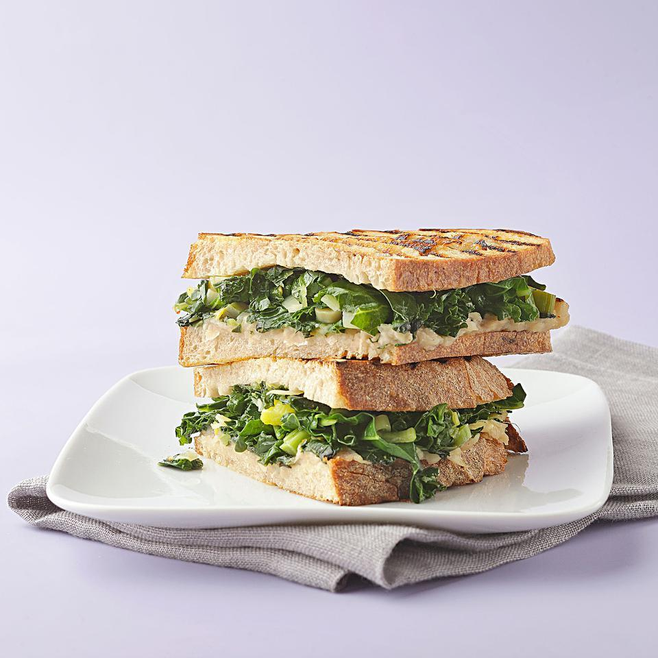 Braised Greens & Cannellini Bean Panini