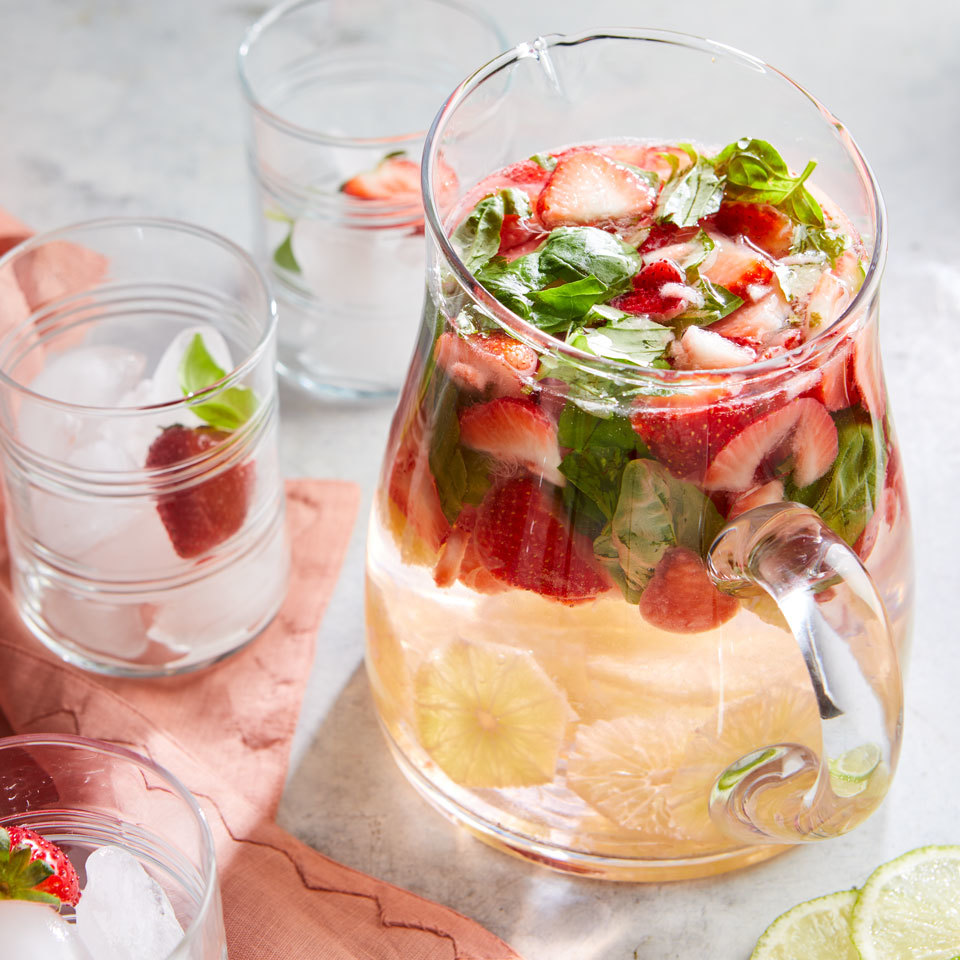 Strawberry, Basil & Lime Infused Water