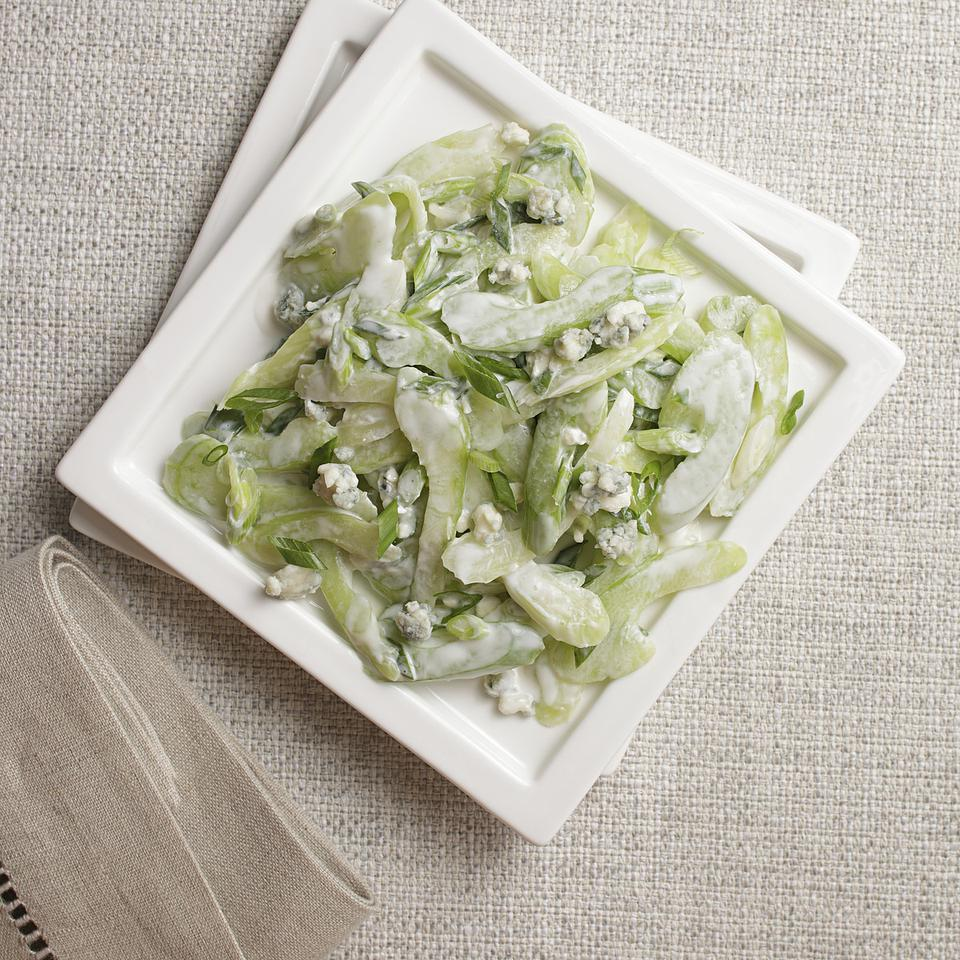 Slivered Celery Salad with Blue Cheese Dressing