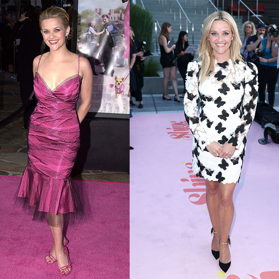 Reese Witherspoon on pink carpets