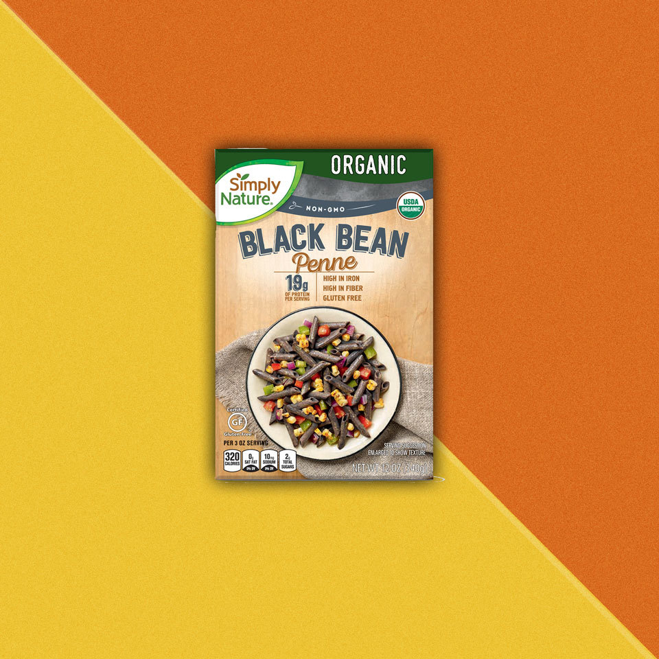 box of Simply Nature Black Bean Penne