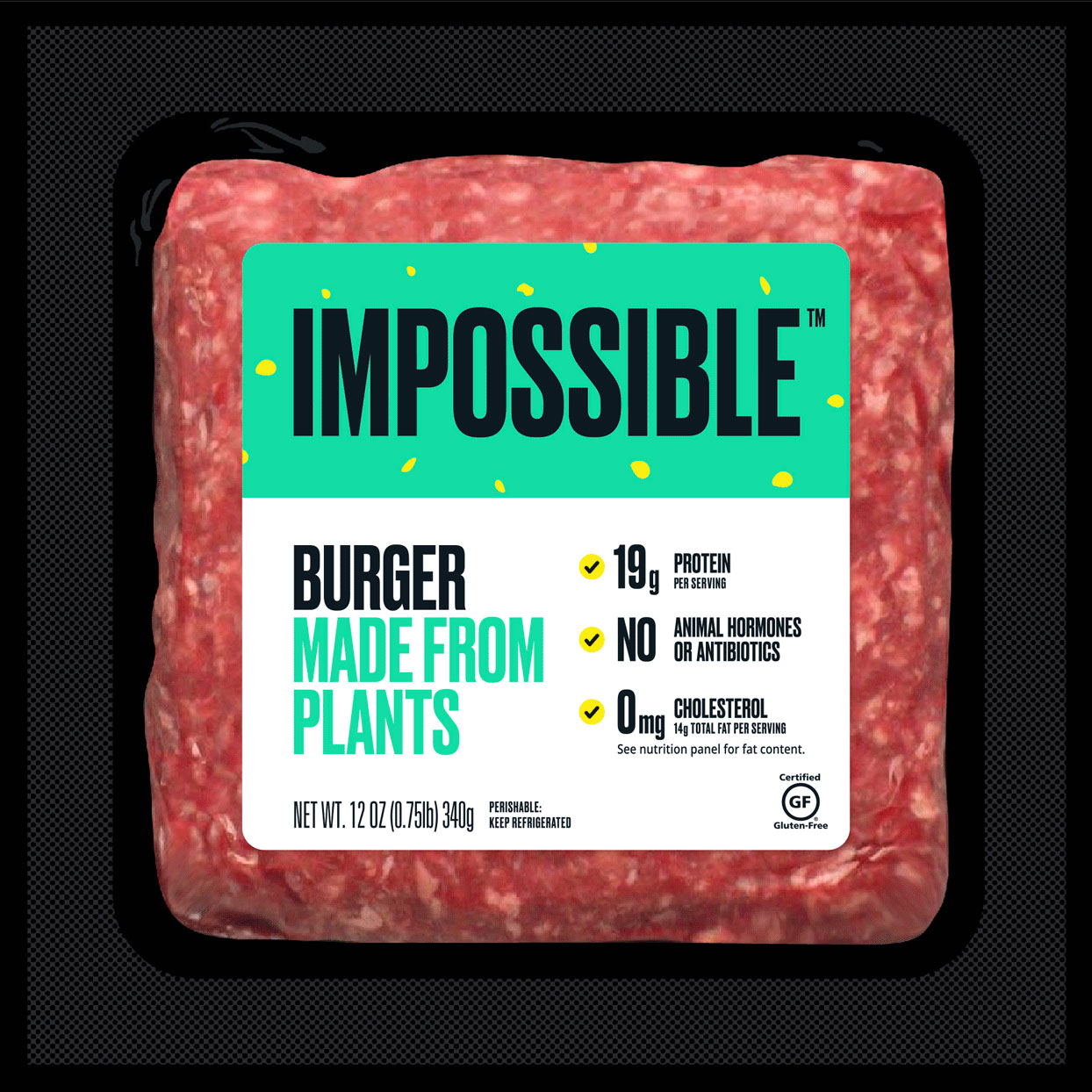 package of Impossible Burger Made from Plants