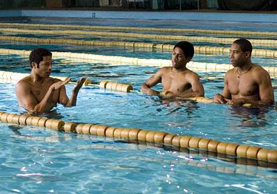 JIM ELLIS (Terrence Howard) Pride (2007) Finally, a partygoer you can turn to when you need advice on perfecting your backstroke, your butterfly, or your…