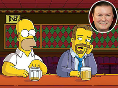 Ricky Gervais | THE CHARACTER Charles (from ''Homer Simpson, This Is Your Wife,'' 2006) Gervais (who became the first guest star to get a writing credit) played a…
