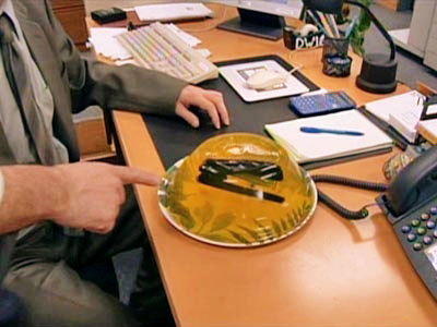 The Office | ''The Pilot'' (Season 1, Episode 1) Say you've lost your stapler, or your calculator, or your ''World's Best Boss'' coffee mug. Someone probably borrowed it.…