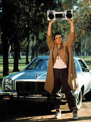 Say Anything..., John Cusack | John Cusack blasts Peter Gabriel outside Ione Skye 's window in 1989's Say Anything — and she miraculously doesn't call the cops.