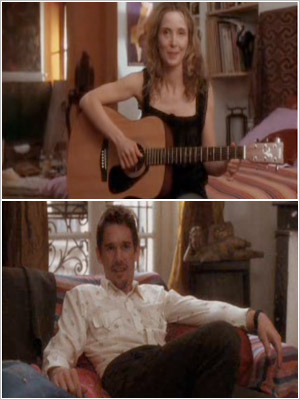 Julie Delpy sings a song (''Waltz'') she wrote about him to Ethan Hawke right Before Sunset (2004).