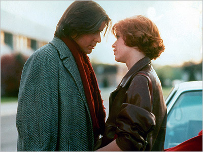The beauty ( Molly Ringwald ) gives the rebel ( Judd Nelson ) her diamond earring as they end their day in The Breakfast Club…
