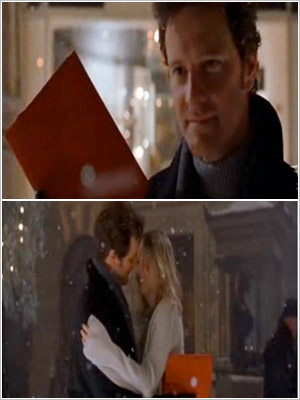 Colin Firth buys Renée Zellweger a new diary at the end of Bridget Jones's Diary (2001).