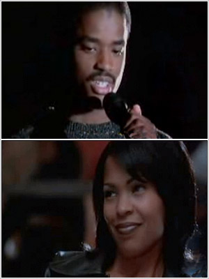 Larenz Tate offers an impromptu beat poem to Nia Long in Love Jones (1997).