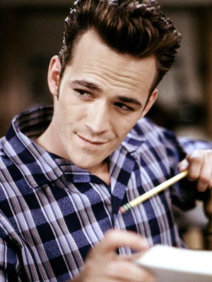 Luke Perry, Beverly Hills, 90210   Now everyone knows size matters... when it comes to sideburns.