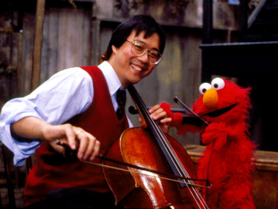 Yo-Yo Ma, Sesame Street | YO-YO MA In white tie and tails, the classical cellist joins the Honkers, performing a piece by Murray Beethoven, the famous Honker. The three Honkers…