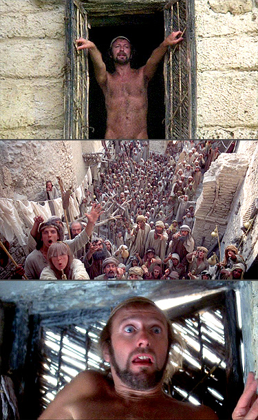 Graham Chapman | in Life of Brian (1979) Waking up the morning after sleeping with a beautiful revolutionary, Brian steps out of bed in his birthday suit and…