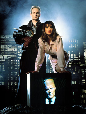 Max Headroom, Amanda Pays, ... | Set in a grim video-age dystopia where TV networks have become so all-powerful that it's illegal for viewers to turn off their sets, Matt Frewer…
