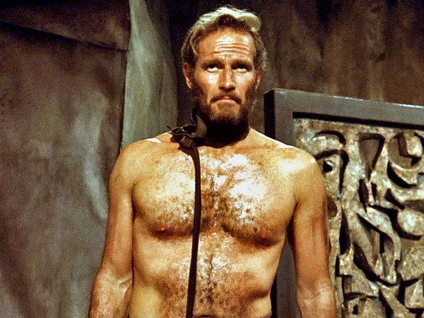 Charlton Heston, Planet of the Apes (Movie - 1968) | in Planet of the Apes (1968) Well, usually, when human scientists examine monkeys in a lab, the monkeys are naked, so turnabout is fair play…