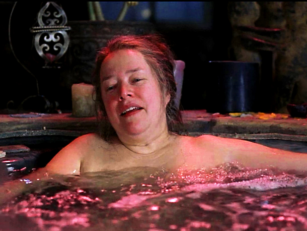 Kathy Bates, About Schmidt | in About Schmidt (2002) Kathy Bates hasn't been shy about showing her not-a-supermodel's body on screen. She got naked and rolled around in the mud…