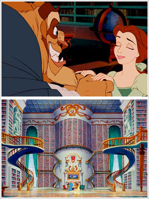 Beauty and the Beast | The Beast gives his library to Belle in Beauty and the Beast (1991).