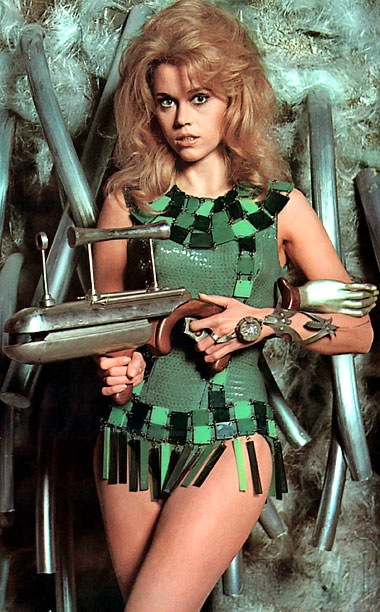 Jane Fonda, Barbarella: Queen of the Galaxy | Played by: Jane Fonda Film: Barbarella (1968) The swingin' '60s definitely needed its own sci-fi siren and Jane Fonda stepped up to the plate. Just…