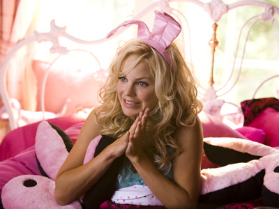 The House Bunny, Anna Faris | Ousted from the Playboy Mansion, Anna Faris' Miss November wannabe finds herself in a college sorority with a bunch of girls (including Rumer Willis) who…