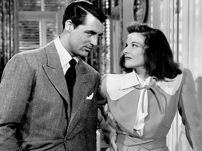 The Philadelphia Story, Cary Grant, ... | CARY GRANT and KATHERINE HEPBURN, The Philadelphia Story (1940) The classic George Cukor-directed screwball comedy married two great stars with two great voices — his…
