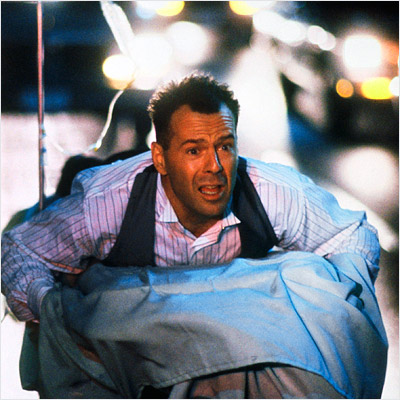 Bruce Willis, Hudson Hawk | How bout HUDSON HAWK ? That and Xanadu are the definition of craptastic in my book. — KR