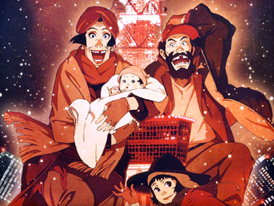 Tokyo Godfathers | I've had a tradition of watching Tokyo Godfathers for a couple years now. Nothing says Christmas like an old drag queen, an old drunk, and…