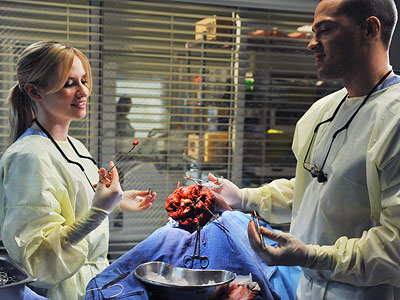Grey's Anatomy, Chyler Leigh | Grey's Anatomy recap: Making Choices A roof collapse kills the Seattle Gracers' Valentine's Day plans but leads to some pairing up I liked the idea…