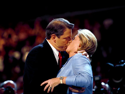 Al Gore   AL and TIPPER GORE at the 2000 Democratic Convention ''Totally unwatchable. I had to flee the room. He might as well have been licking her…