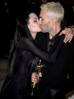 Angelina Jolie   ANGELINA JOLIE and JAMES HAVEN at the 2000 Academy Awards ''Angelina Jolie. Her brother. CRINGE.'' — Michael ''Siblings just shouldn't just kiss like that.'' —…