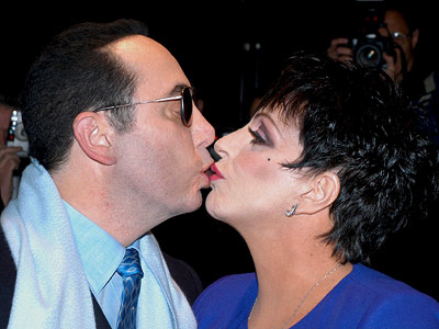 David Gest, Liza Minnelli   LIZA MINNELLI and DAVID GEST ''The Liza Minnelli-David Gest kiss takes the cake. She looked like she?s making out with a mannequin. Old people tongue?…
