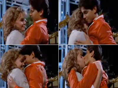 The Karate Kid   RALPH MACCHIO and ELISABETH SHUE in The Karate Kid ''He looked like he was trying to eat her. She looked like she was trying to…