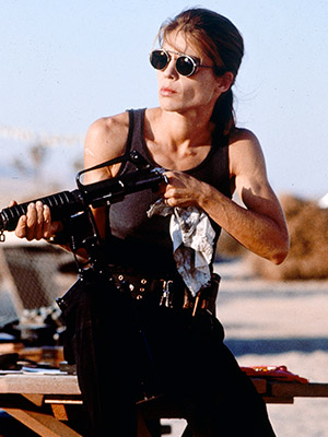 Terminator 2: Judgment Day, Linda Hamilton | SARAH CONNOR (LINDA HAMILTON) Most Badass Moment: Question: What is the cinematic shorthand for establishing that your formerly shy character has become an action-heroine badass?…