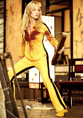 Kill Bill -- Vol. 1, Uma Thurman | It's no small task carrying 247 minutes' worth of celluloid — especially when it's a two-volume martial-arts epic in which the protagonist kills 77 characters…