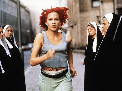Franka Potente, Run Lola Run | Here's the only action heroine who completed her objective thanks in part to quantum mechanics. Lola has to find 100,000 deutsche marks in 20 minutes…