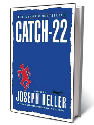 Joseph Heller   ''The knife came down, missing him by inches, and he took off.'' —Joseph Heller, Catch-22 (1961)