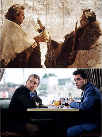 I'll say that Dances With Wolves was the right romance-y white-man-among-Indians revisionist epic for its time. But immediately after that I'll say that GoodFellas —…