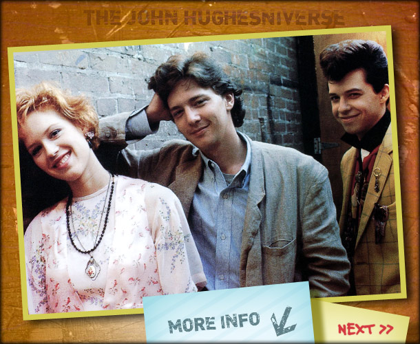 John Hughes | Though he wasn't her first choice, Ringwald says her main concern with Jon Cryer's Duckie is that she didn't think there was a romantic spark…