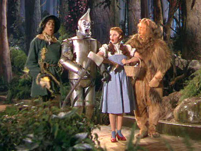 Bert Lahr, Jack Haley, ... | The yellow brick road is the setting for every moviegoer's first road movie. In typical road movie fashion, Dorothy discovers that the point of her…