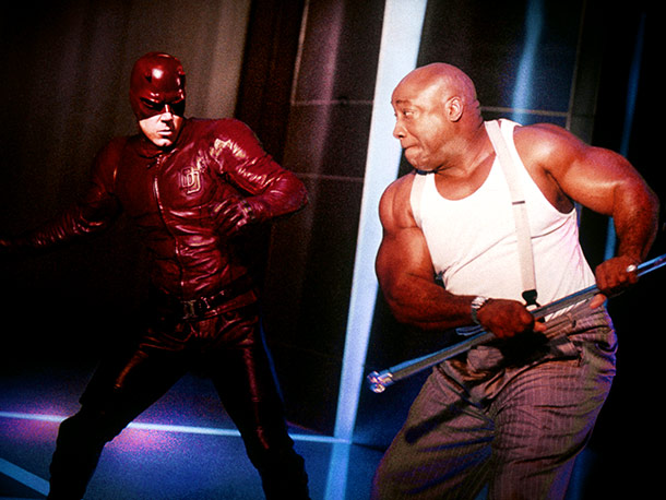 Daredevil, Ben Affleck, ...   A highly controversial skin-tight costume of a second-tier comic book superhero (in a bold primary color), with a supporting performance by Michael Clarke Duncan thrown…