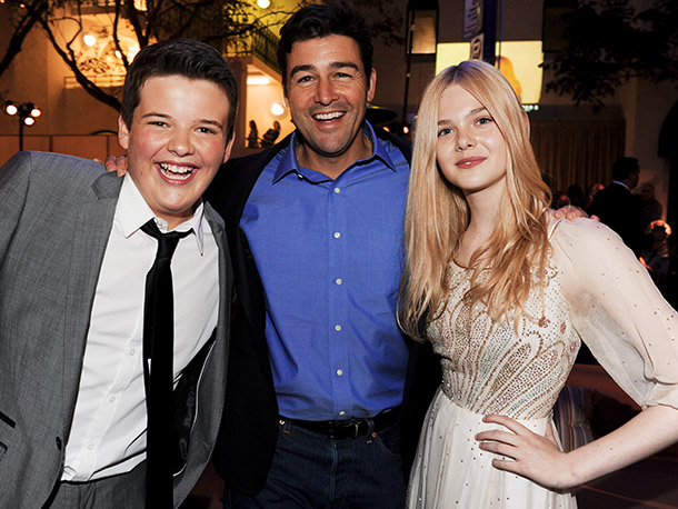 Riley Griffiths, Kyle Chandler, and Elle Fanning