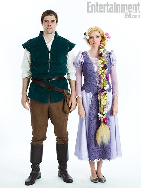 David Lauritzen, Megan Ross, Flynn Ryder and Rapunzel