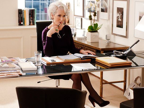 The Devil Wears Prada, Meryl Streep   Why I'd quit: If the details of my incompetence disinterest her, she'll probably have little interest in my thoughts about last season of Glee .…