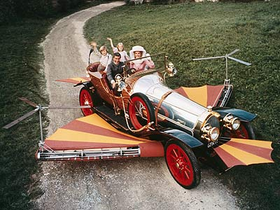 Chitty Chitty Bang Bang | Dick Van Dyke and ''cool'' may go together as uneasily as meat and dairy in a kosher deli, but his flying jalopy is the alpha…