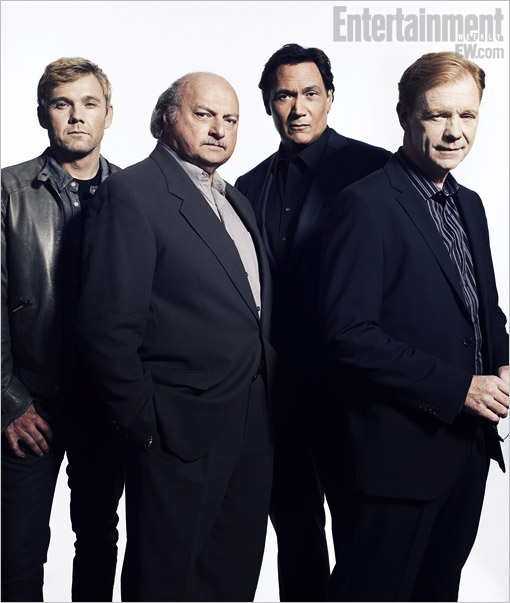 Ricky Schroder, Dennis Franz, Jimmy Smits, and David Caruso, NYPD Blue