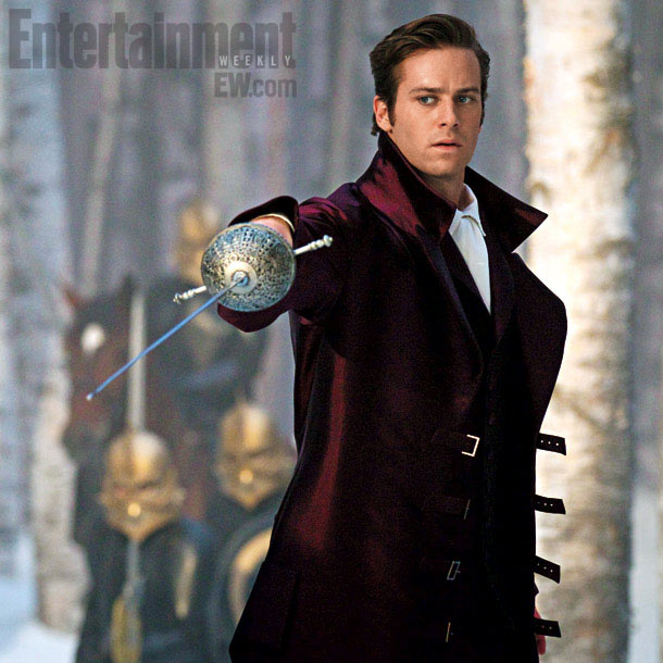 Armie Hammer | A noble prince ( The Social Network 's Armie Hammer) attempts to thwart the bandits, searching not for dwarfs but giants. ''That's how they attack…