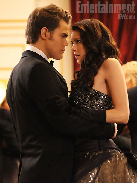 Nina Dobrev, Paul Wesley, ...   Mystic Falls is known for its town events, and this one, a formal ball held at Klaus' newly renovated mansion in the Feb. 9 episode…