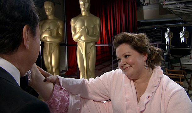 Melissa McCarthy, Oscars 2012   Melissa McCarthy had already lost Best Supporting Actress, so she couldn't be accused of trying to influence the host when she cornered Crystal in his…