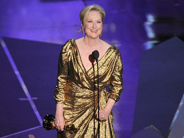 Oscars 2012, Meryl Streep   When Meryl Streep won her third Oscar, you knew her speech was going to be funny, and touching, and totally off the cuff. She didn't…
