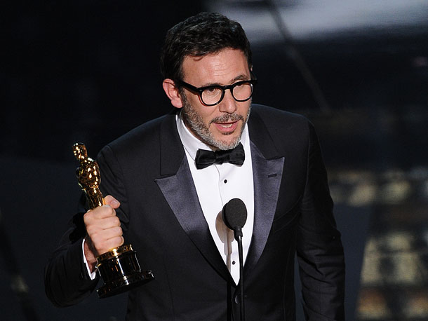 Oscars 2012, The Artist, ...   Hollywood is enamored with auteurs with accents, and The Artist director Michel Hazanvicius nearly channeled the ebullient Italian when he accepted his award for Best…